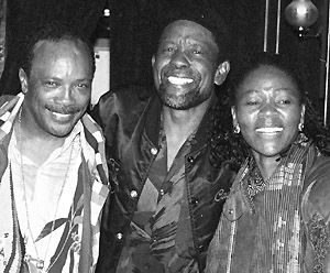 Caiphus (centre) with Quincy Jones and Letta Mbulu &copy S.Gordon